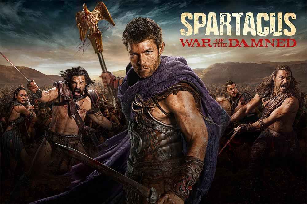 Spartacus: A ousada série sobre o famoso gladiador teve cenas explícitas de violência e sexo e a morte de seu protagonista por um câncer.