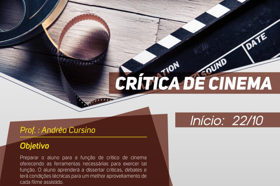 ESTÃO ABERTAS AS INSCRIÇÕES PARA O CURSO DE CRÍTICA DE CINEMA COM A PROFESSORA ANDRÉA CURSINO NA FACHA