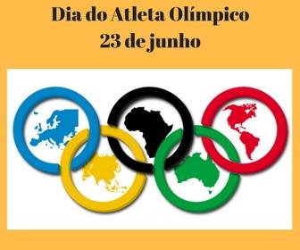 Dia 23 de Junho é o Dia do Atleta Olímpico